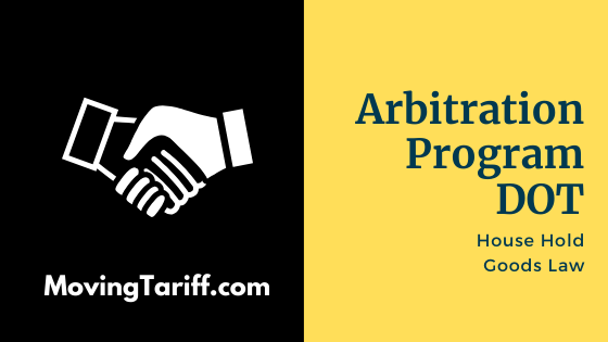 Arbitration Program dot for Moving Companies