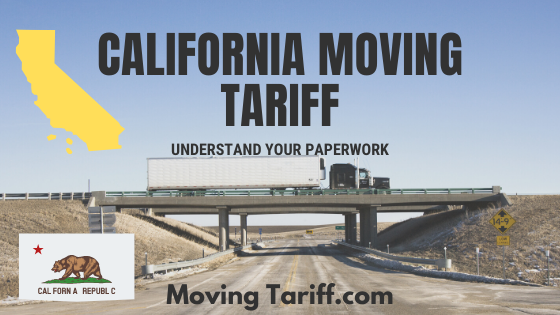 California moving company tariff