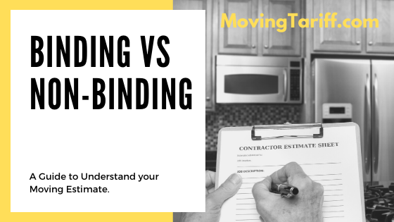 binding vs non-binding how do moving companies charge