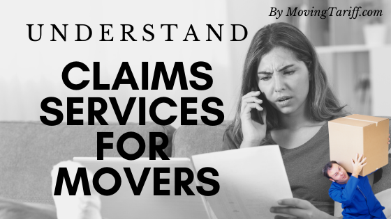 Claim services process for movers